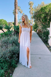 Scallop Strap Boho Dress