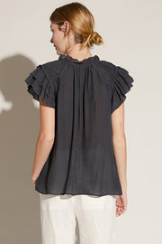 Rachel Ruffle Sleeve Top
