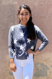 Double Layer Soft Knit Star Sweater
