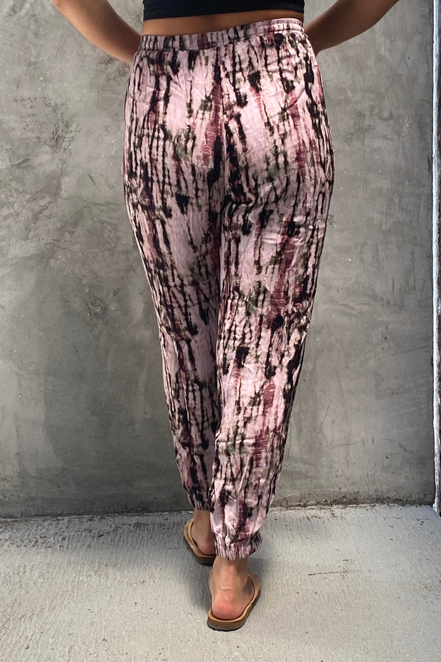 Purple Galaxy Tie Dye Jogger