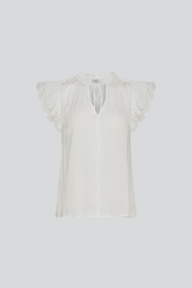 Ruffles and Lace Blouse