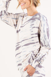 Zebra Tie Dye French Terry Pullover