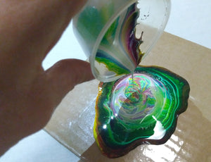 Pouring Color Mixture