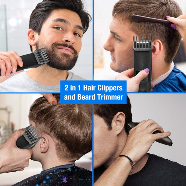 Electric Hair Clipper Cordless Beard Trimmer for Men Professional Barber Clippers
