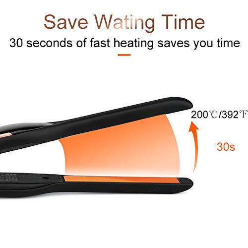 1/2 Inch Hair Straightener with LCD Display 7 Heat Settings