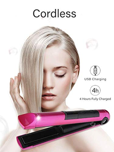Portable Cordless Hair Straightener with USB Recharge