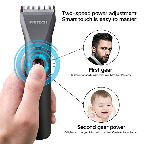 Professional Electric Hair Clipper with USB Recharge