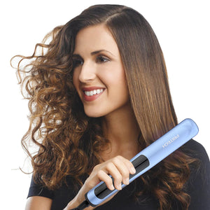 Hair Straightener Brush Straightening Comb with Anti-Scald 30s Fast Ceramic Heating