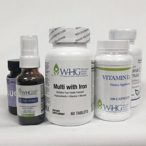 Immunity Booster Bundle (Adrenal C Formula + B12 MC Spray + Lugo 12.5 + Multi With Iron + Vitamin D3)