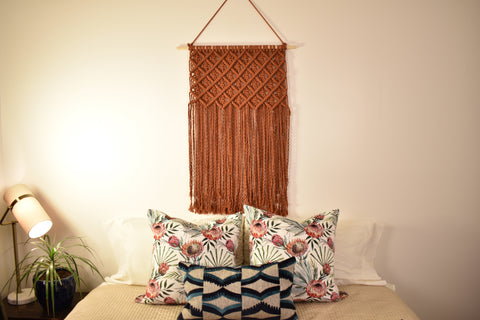 "24"" Macrame Wall Hanging - Copper"