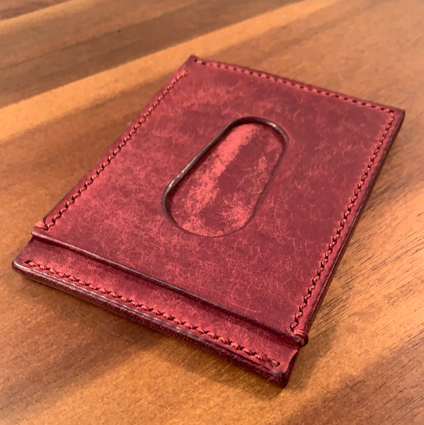 Slim Leather Wallet - Bordeaux Graffiti