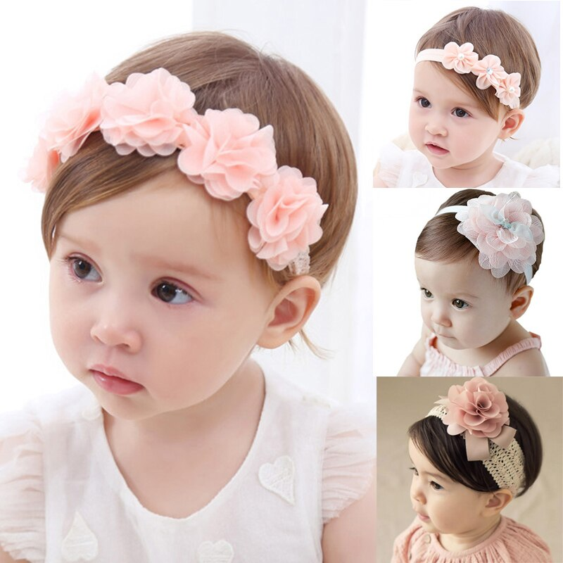 Cute Baby Flower & Bow Headband