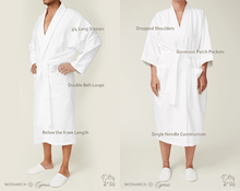 Load image into Gallery viewer, Chamois Microfiber Kimono Robe with Live Love Spa logo embroidery