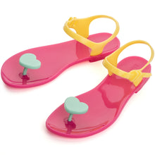 Load image into Gallery viewer, Zhoelala blue heart pink sandal