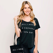 Load image into Gallery viewer, Coffee & A Spa Day Women's T-Shirt