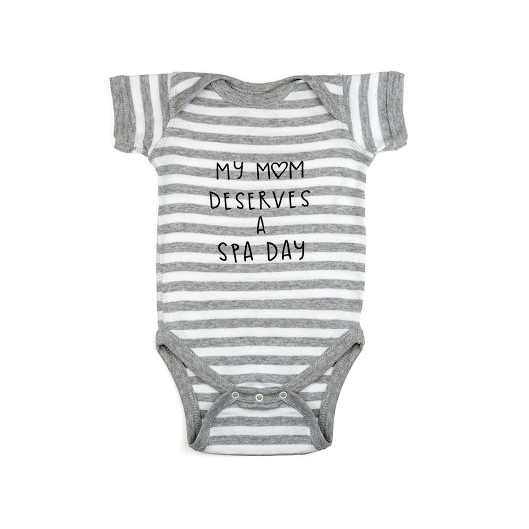 Mom Needs A Spa Day Baby Onesie | Lucky Owl