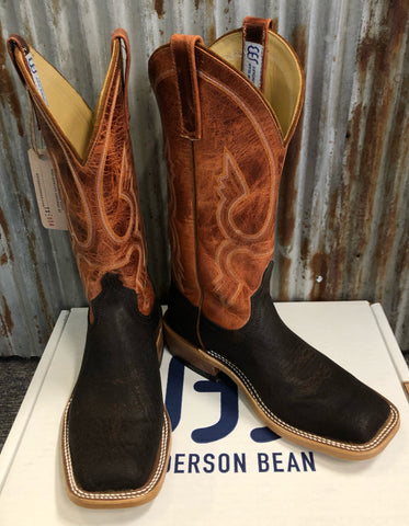 "Anderson Bean Brown Tiger Shark w/13"" Orange Mad Dog Boots"