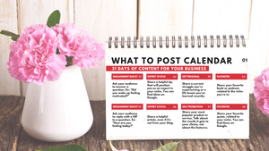 31 Days of What-To-Post Calendar