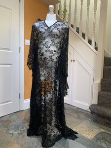 Sheer lace boho kaftan fits all size - Design by C