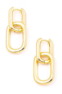 Linked Up Gold Earring