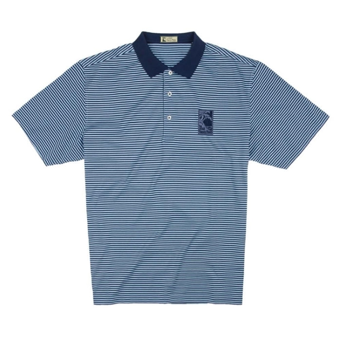 Men's Mercerized Supima Stripe Polo Shirt