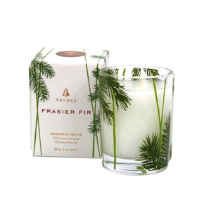 Thymes Frasier Fir Aromatherapy Votive Candle