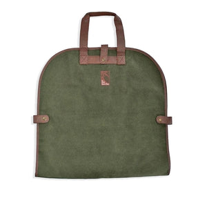 Garment tote in millwood green with The Lodge Torrey Pines logo