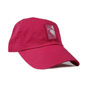 Women's Cassis (pink) adjustable hat with The Lodge at Torrey Pines logo