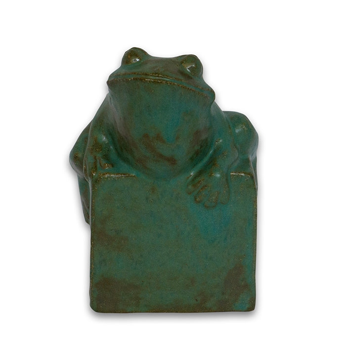 Frog Clay Sculpture by Janet Ontko