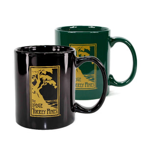 Ceramic Mug in Black or Green with The Lodge at Torrey Pines logo