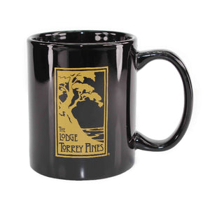 Ceramic Mug in Black with The Lodge at Torrey Pines logo