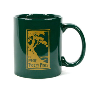 Ceramic Mug in Green with The Lodge at Torrey Pines logo