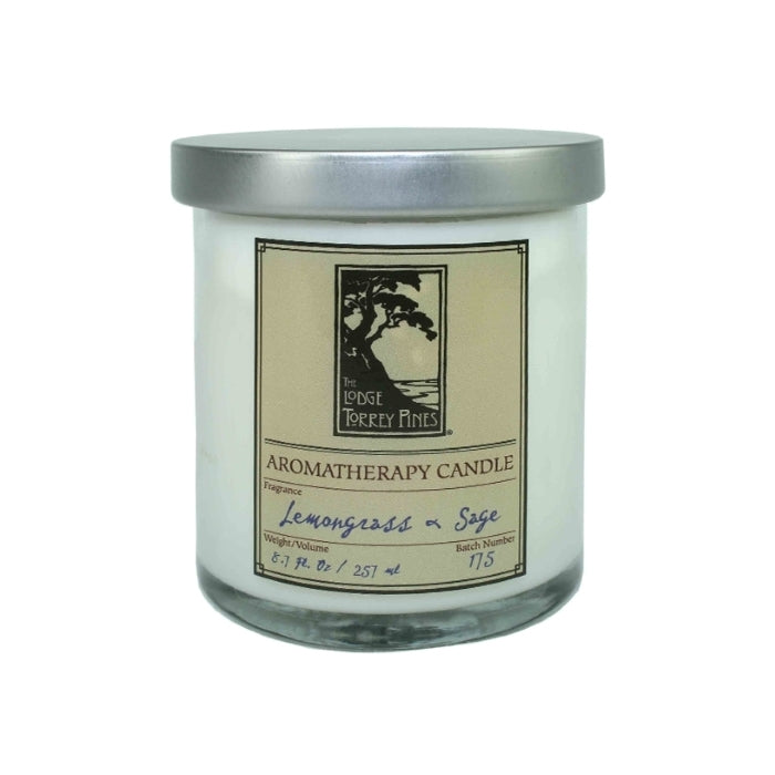 Lemongrass and sage aromatherapy candle from The Lodge at Torrey Pines