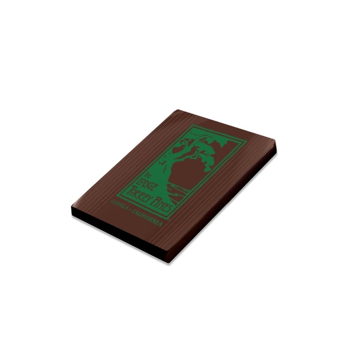 Chocolate business card with The Lodge at Torrey Pines logo