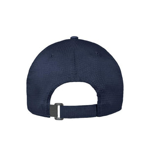 Back view of men's Under Armour Zone adjustable hat in navy blue from The Lodge at Torrey Pines