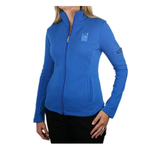 Women's Swing Full Zip Jacket in royal blue with The Lodge at Torrey Pines logo