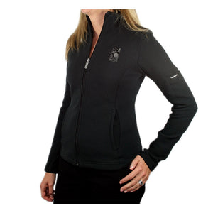 Women's Swing Full Zip Jacket in black with The Lodge at Torrey Pines logo