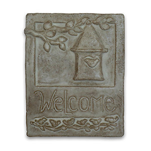 Welcome Tile Birdhouse by Janet Ontko