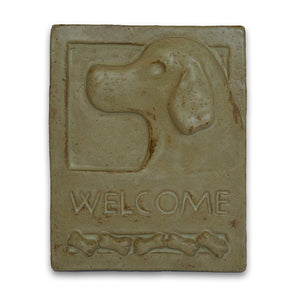 Welcome Tile Dog by Janet Ontko