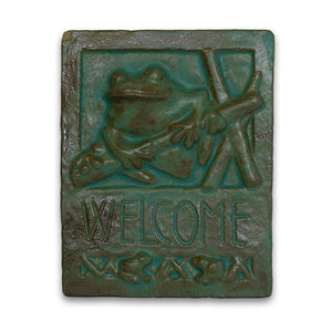 Welcome Tile Frog by Janet Ontko