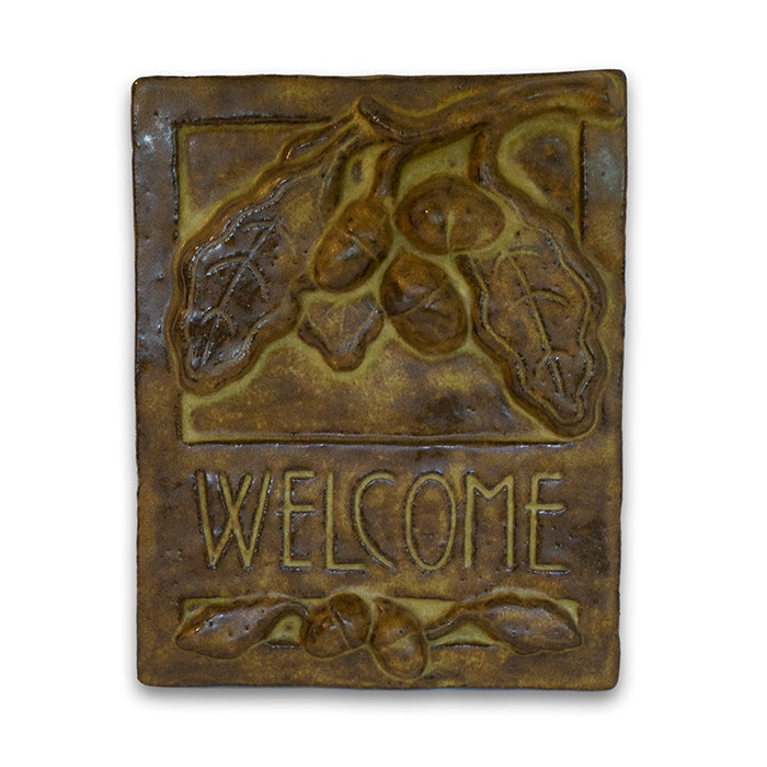 Brown Welcome Tile Oak by Janet Ontko