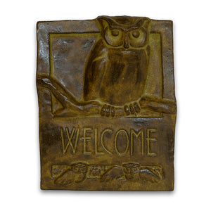 Welcome Tile Owl by Janet Ontko