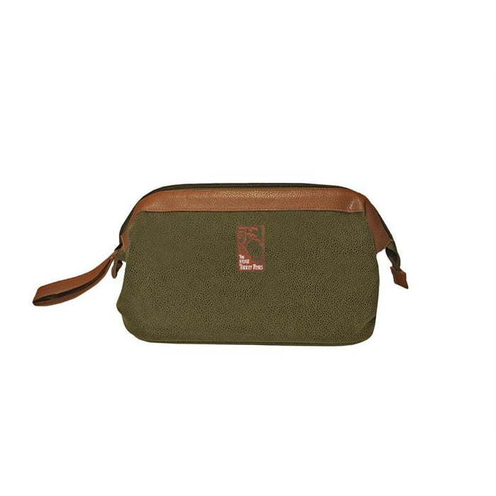 Dopp Kit in Millwood Green Faux Suede from The Lodge at Torrey Pines