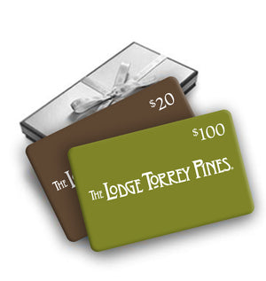 Enjoy a free $20 gift card with your $100 gift card purchase from The Lodge at Torrey Pines