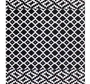 Ankara Wax  print  6 yards Kente black/white
