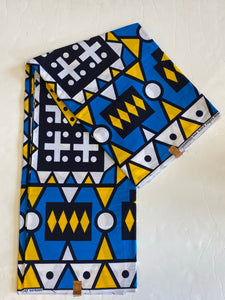 Mask/Head Scarfs (Sale by the Yard) African Wax Print