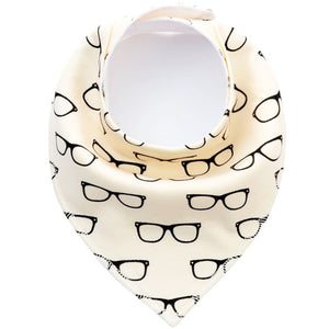 Cotton Cartoon Baby Bib Glasses - littletingles