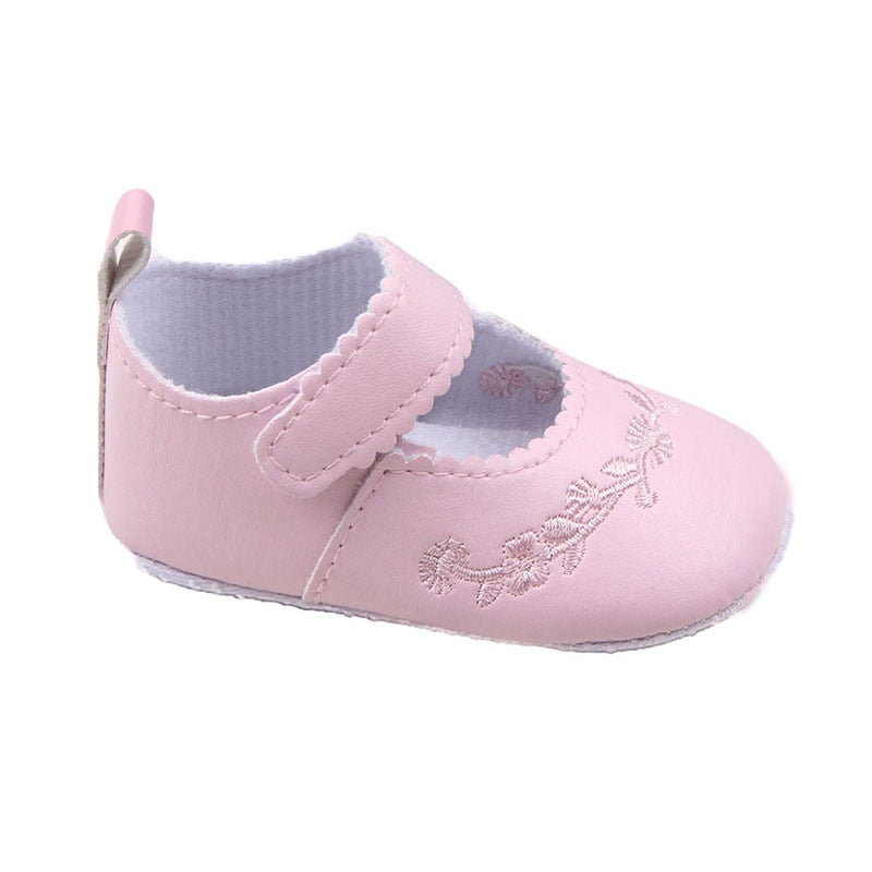 Patterned Baby Shoes Pink - littletingles