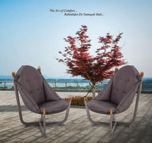 Load image into Gallery viewer, Longshore Tides Abramson Patio Chair Metal Outdoor Club Chairs Anthracite