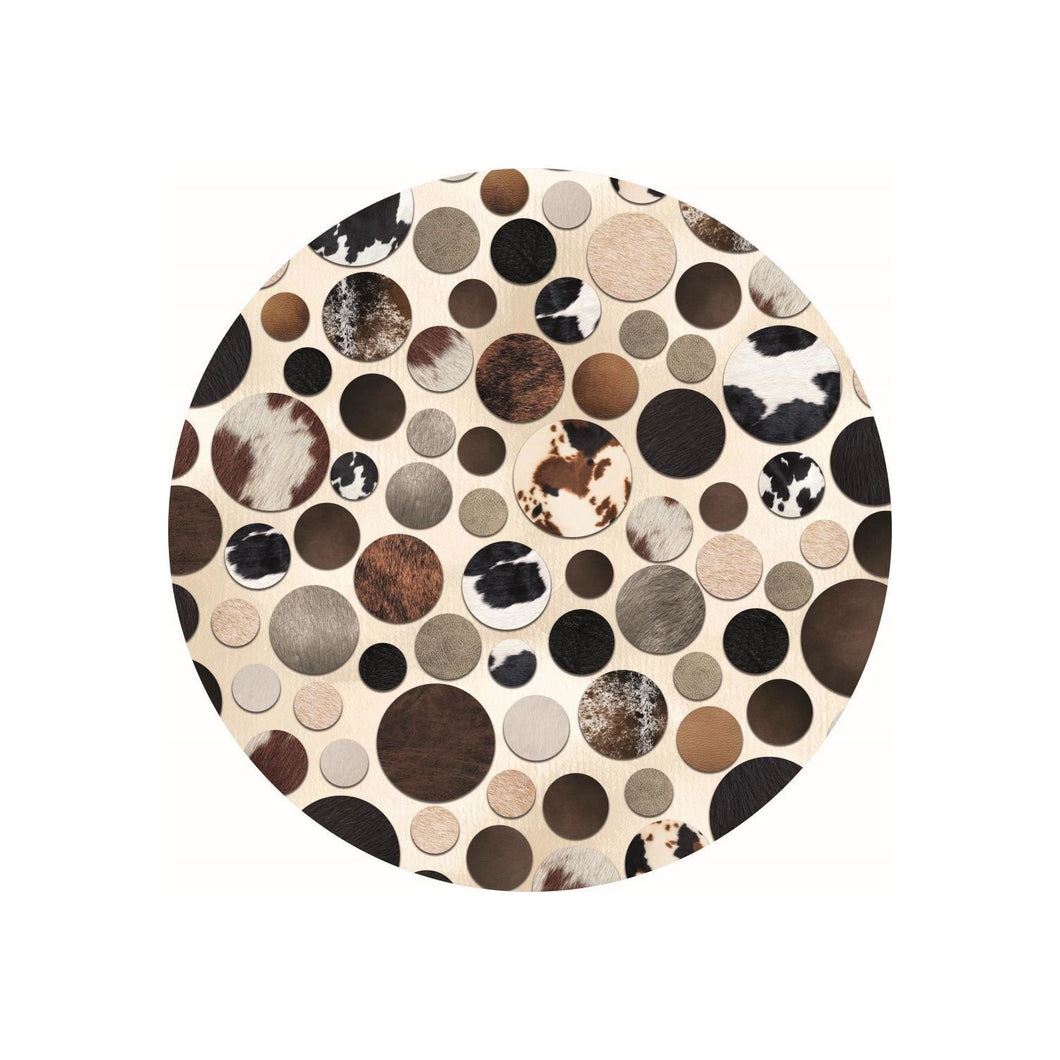 Etgbuy Small Brown Circles Design Area Rug